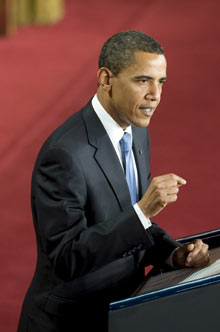 President Barack Obama speaks on American foreign policy at Cairo University in Cairo, Egypt