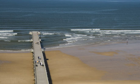 Saltburn in Cleveland, England, with its Pier heading out into the Sea