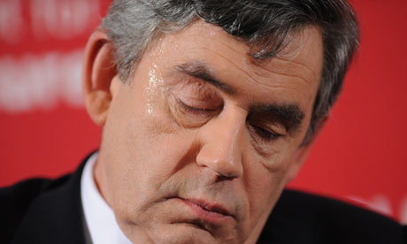 Gordon Brown meets Labour activists in East London