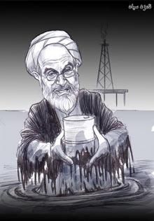 Iran election cartoon showing Mehdi  Karroubi
