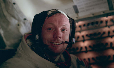 moon landing neil armstrong. Neil Armstrong after historic