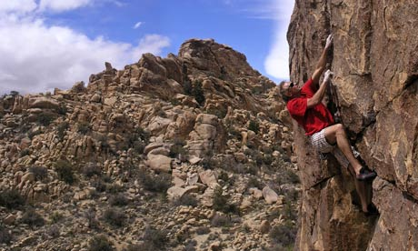John Bachar climbing without ropes