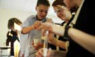 Chemistry experiment in a science lesson