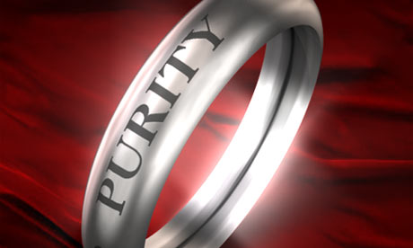 Purity ring symbolizing abstinence