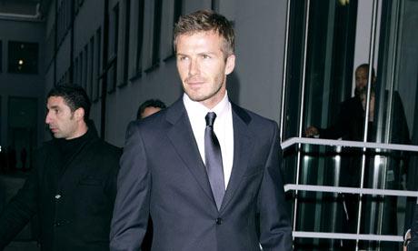 David Beckham at the Milan Fashion Show, January 2009