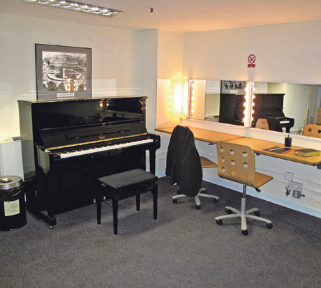 Musicians' rooms: the dressing room at the Proms