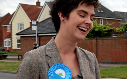 Tory candidate Chloe Smith canvasses in Taverham on the eve of of the Norwich North byelection.