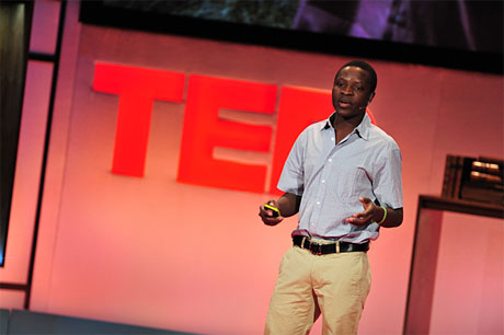 'Windmill' William Kamkwamba speaking at TEDGlobal 2009 in Oxford