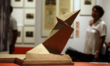 Denkmal der Maerzgefallenen in Weimar by Walter Gropius in Bauhaus. A Conceptual Model exhibition