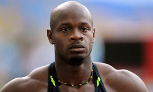 Asafa Powell in Rome in 2008