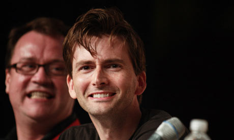 David Tennant and Russell T Davies at Comic-Con 2009