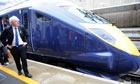 Boris Johnson on the Javelin train