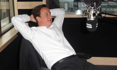 David Cameron at Absolute Radio in London on 29 July 2009.