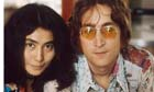 John Lennon and Yoko Ono at their home at Tittenhurst Park.