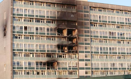 Tower block fire in Camberwell, south London