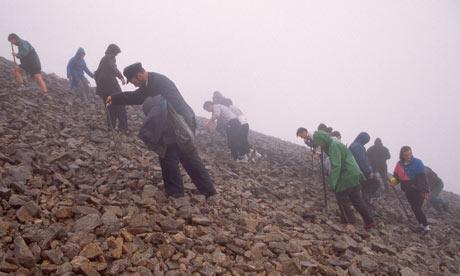 Pilgrims climbing Croagh Patrick, Co Mayo, Ireland
