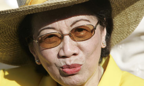 Former president of the Philippines Corazon Aquino