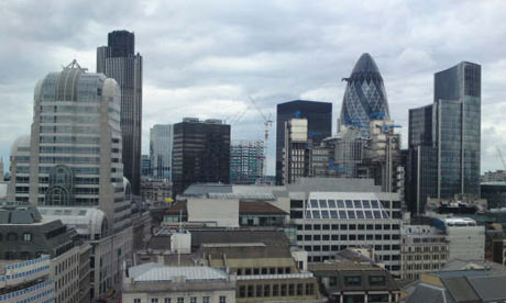 The skyline of the City of London, including Tower 42 and the Swiss Re tower ('gherkin'). Paul Owen