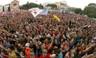 A crowd of 500,000 people attend May Day co