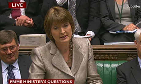 Harriet Harman speaks during Prime Minister's Questions