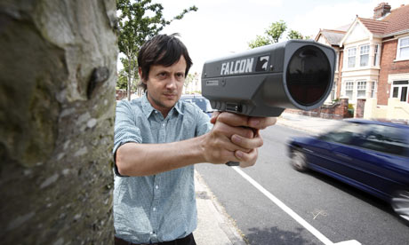Patrick Barkham with his speed gun