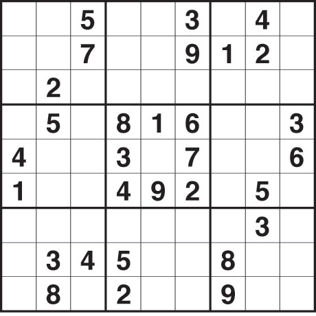 Sudoku Printable Easy on Fill The Grid So That Every Row  Every Column And Every 3x3 Box