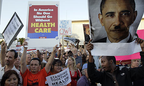 US healthcare protest