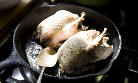 Grouse cooking