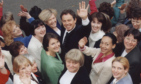 'Blair Babes' - Tony Blair surrounded by some of the 101 women Labour MPs at Westminster