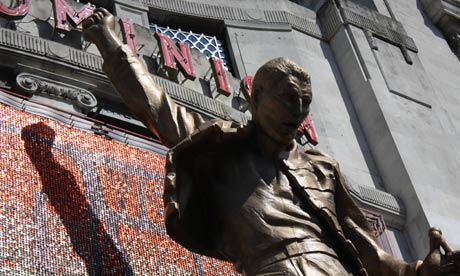 The statue of Freddie Mercury outside the Dominion theatre in central London. Photograph: Paul Owen.