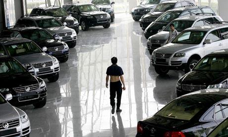 Showrooms Of Cars. Volkswagen showroom in Beijing
