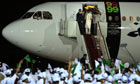 Lockerbie bomber Abdelbaset al-Megrahi arrives in Libya at Tripoli's airport