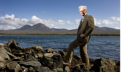 Philip Maxwell, chairman of the Islay Energy Trust, by the Sound of Islay where the ScottishPower turbines will be sited. Photograph: Murdo MacLeod/Murdo MacLeod