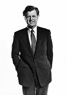 Ted Kennedy poses during a portrait session in Los Angeles, 1980.