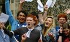 Pupils celebrating GCSE results