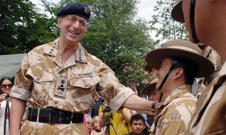 General Sir David Richards, the new head of the British army, in June 2009.