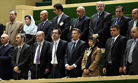 Foreign ambassadors at Mahmoud Ahmadinejad's inauguration