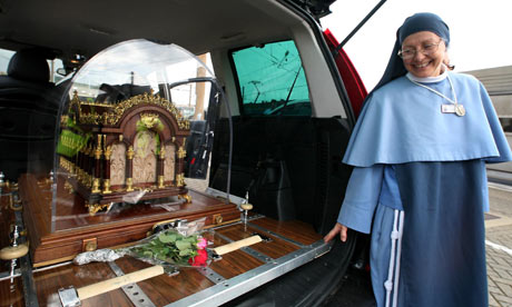St Therese of Lisieux relics on tour