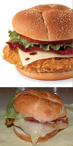 Wendy's chicken club sandwich