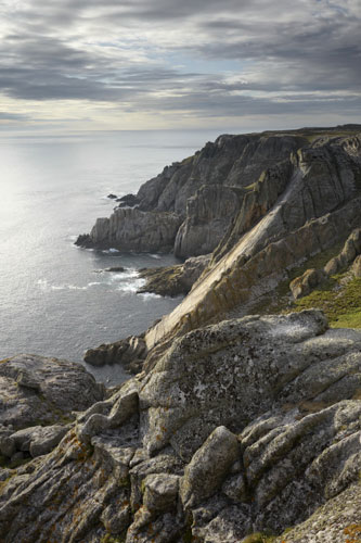 Lundy Island: The Devil's Slide, a natural plane in the granite