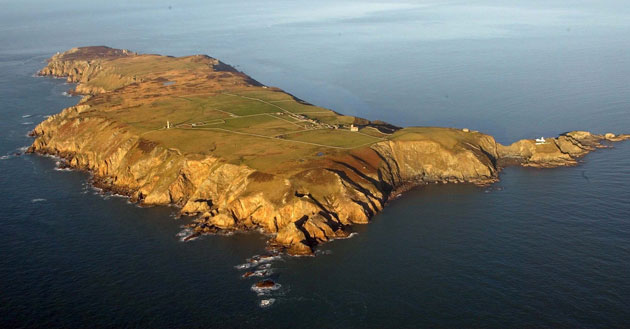 Lundy Island: An Aerial Picture Of Lundy Island Off The Coast Of North Devon