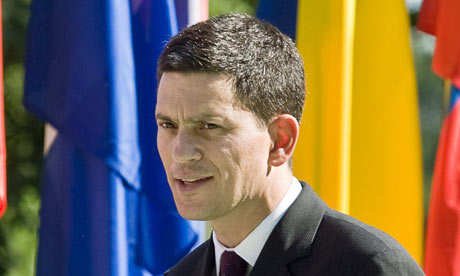 David Miliband at a ceremony marking the 70th anniversary of the first day of the second world war.