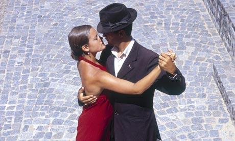 Tango dancing, San Telmo, Buenos Aires, Argentina