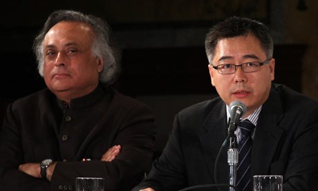 Jairam Ramesh and Su Wei attend New York climate week opening ceremonuy