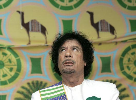 donald trump gaddafi tent. Gaddafi tent : Libyan leader