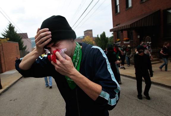 Injured demonstrator {Guardian.co.uk}