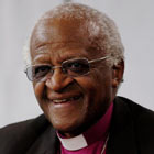 DESMOND TUTU AT KICKOFF OF TRIBECA FILM FESTIVAL IN NEW YORK.
