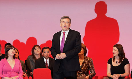 Gordon Brown addresses Labour delegates