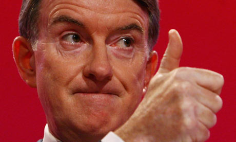 Lord Mandelson speaking at the Labour conference in Brighton on 28 September 2009.