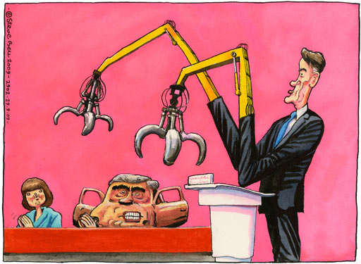 29.09.09: Steve Bell on Lord Mandelson's speech at the Labour party conference